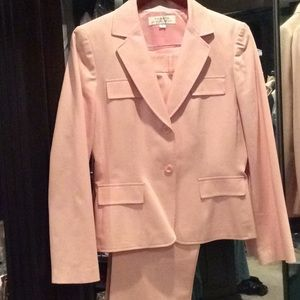 Pink stretch Tahari suit, size 8